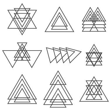 Set of geometric shapes. Trendy geometric icons