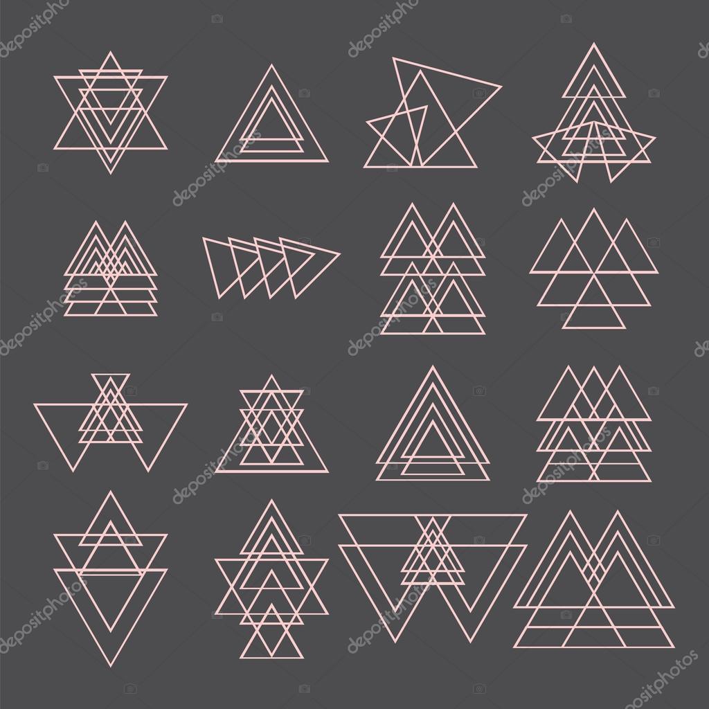 Set of trendy geometric shapes. Geometric icons