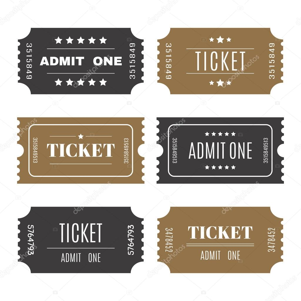 paper tickets with numbers set of vector templates entry ticket
