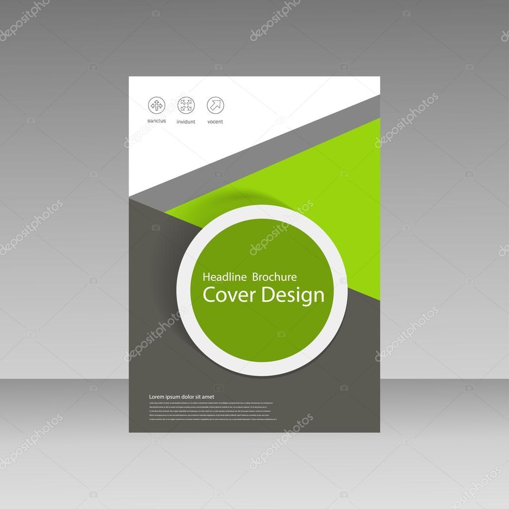 Abstract Brochure Design Template Flyer Design Book Print Design