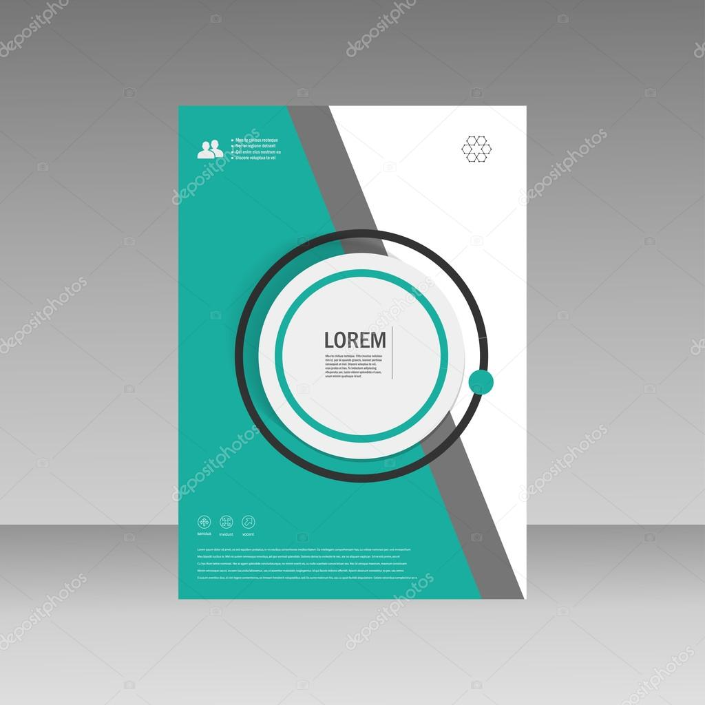 vector leaflet brochure flyer template a4 size design annual report