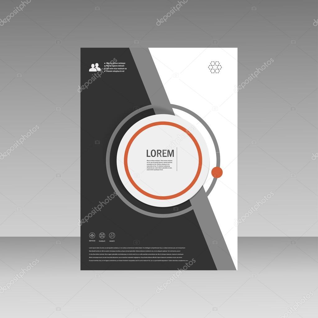 Vektor-Broschüre Broschüre Flyer Vorlage A4 Größe Design ...
