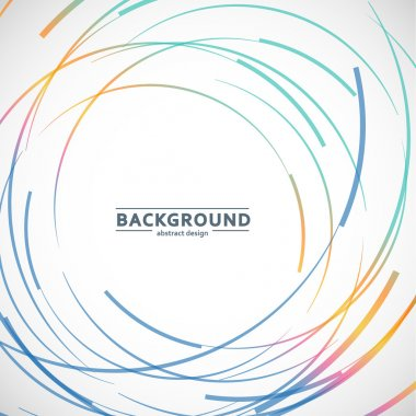 Abstract color line and circle background