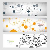 Moderne abstrakte Muster Sechsecke Schaltungen
