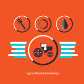 Fotografie Set of vector characters relating to agriculture