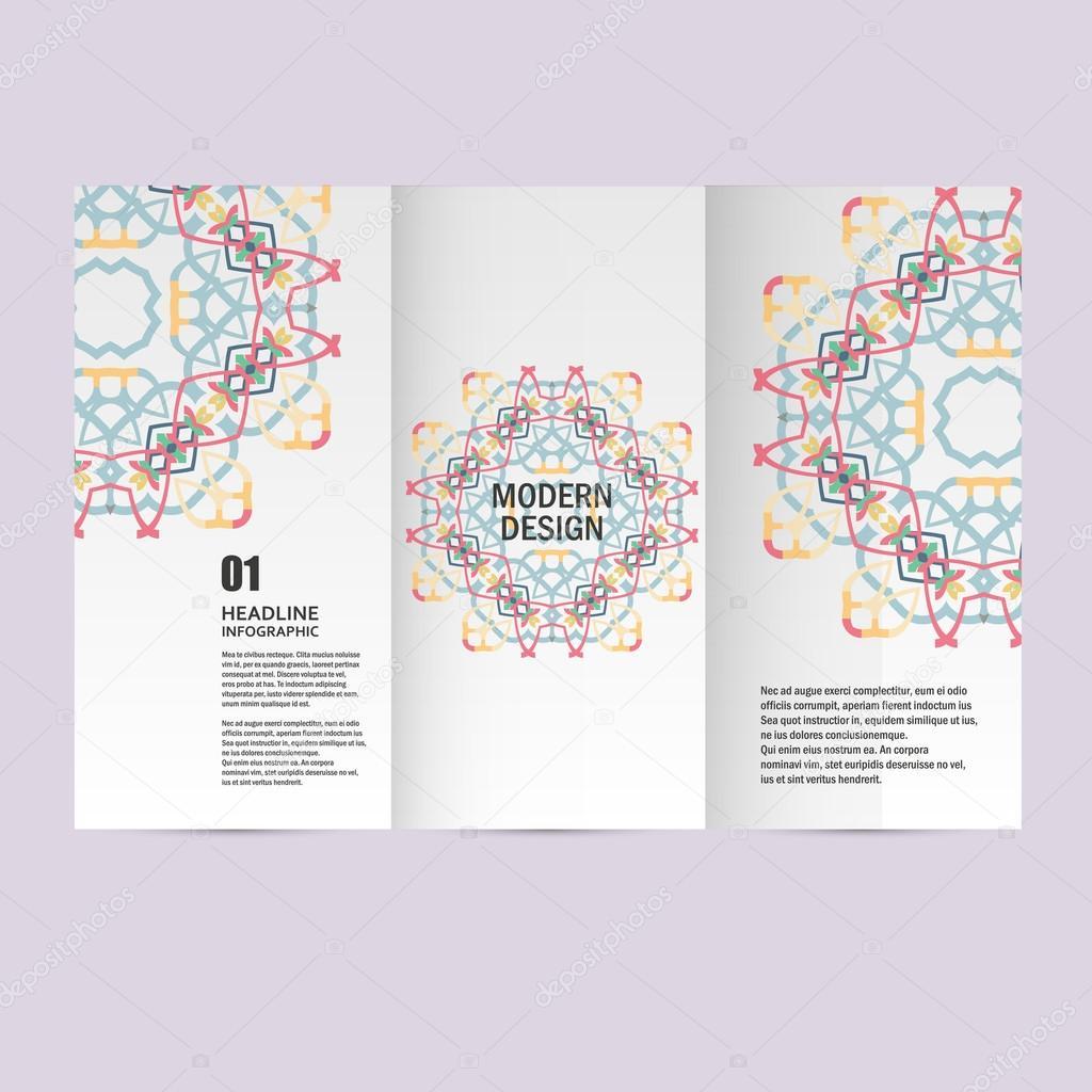 Vektor-Muster schöne Muster auf Druckerzeugnis. Design für Bücher ...