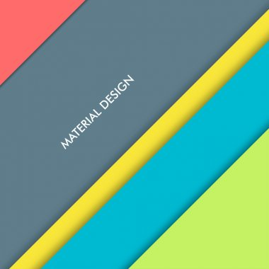 Illustration of modern material design. Vector background