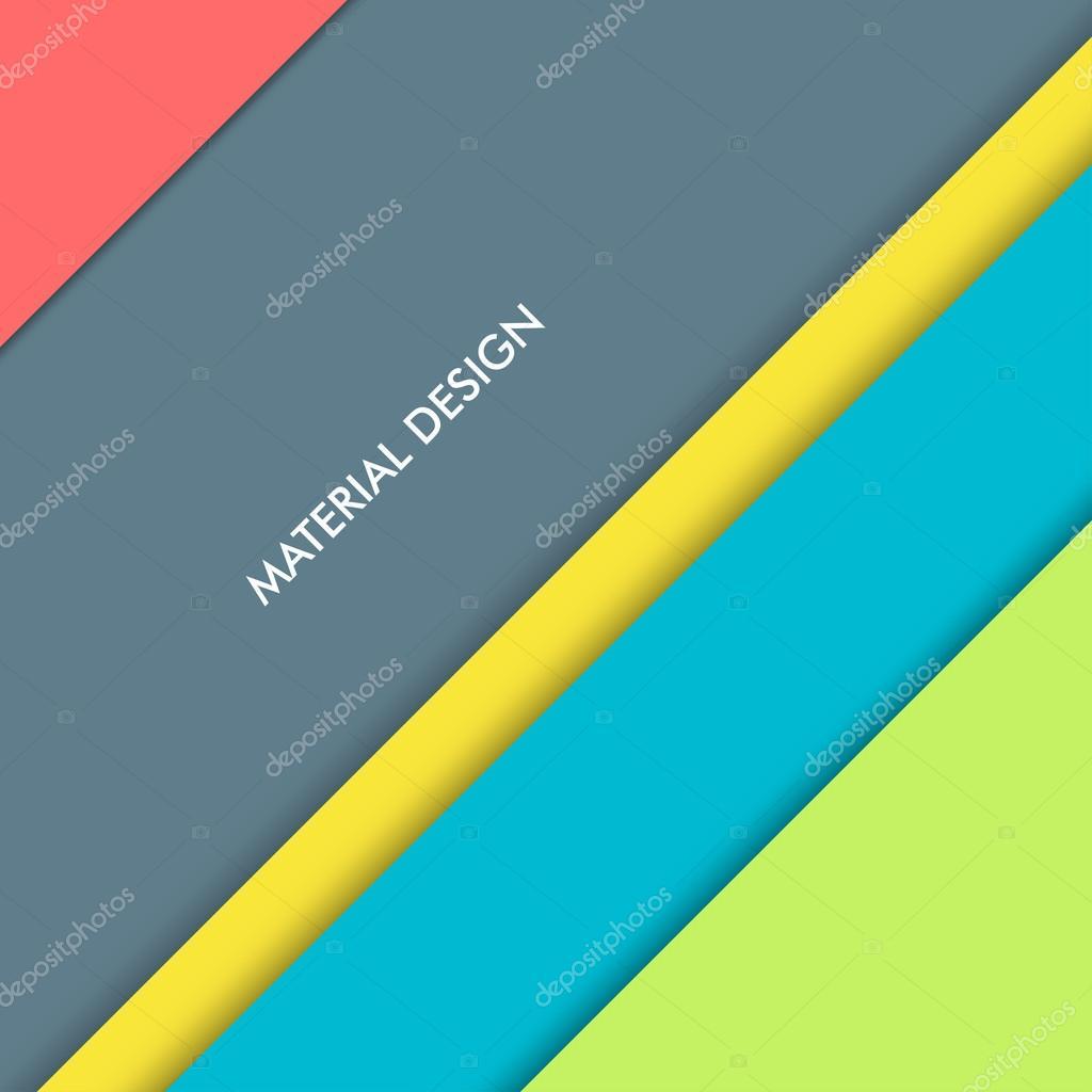 Illustration of modern material design. Vector background