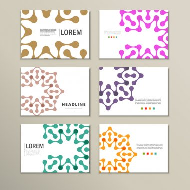 Vector brochures with abstract figures. Design pattern