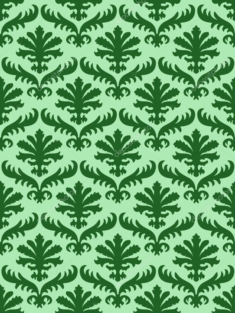 vector wrapping leaves damask seamless floral pattern background for