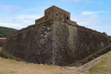 View of the walls of the Sao Joa Baptista fortress, Terceira island, Azores