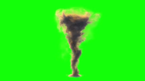Birth of tornado on greenscreen