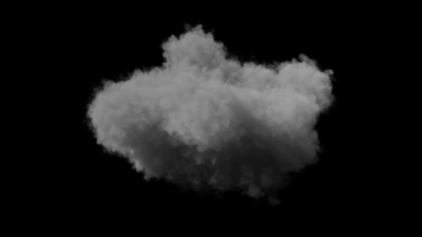 building rain cloud isolated on black