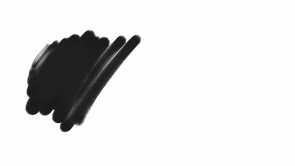 tahy štětcem černou barvou