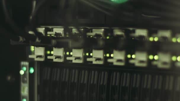 Abstract lights on network server