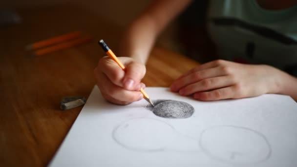 girl hands drawing still life