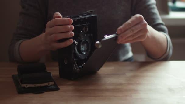 Vintage antik fotó kamera