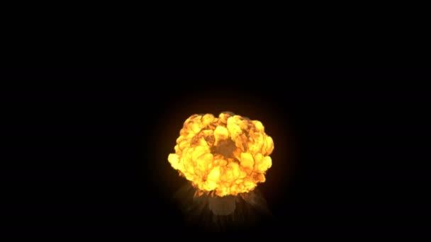 atomic huge explosion isolated on black