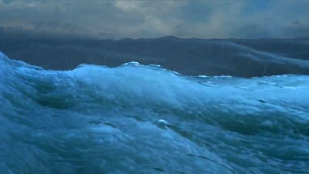 velké vlny v rozčilení oceánu