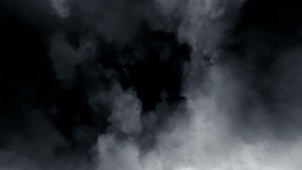 Smyčka bouřkové mraky