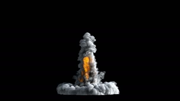 Raketový start kouř