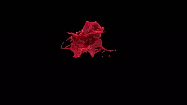 spruzzata di vernice rossa brillante