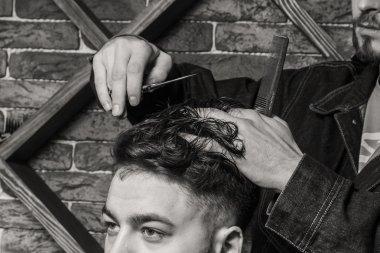Haircut men Barbershop. Men's Hairdressers; barbers.