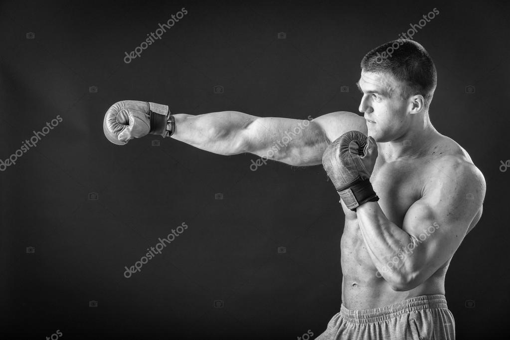 Голые мышцы борьба, бритых челак