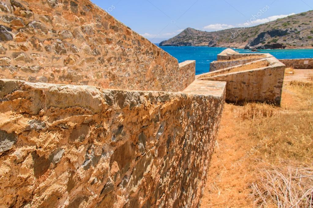 Magnificent views of the ruins on the island of Spinalonga