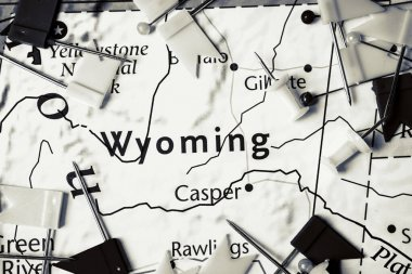 Wyoming on the USA map
