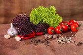 Čerstvá zelenina na vyhození pozadí