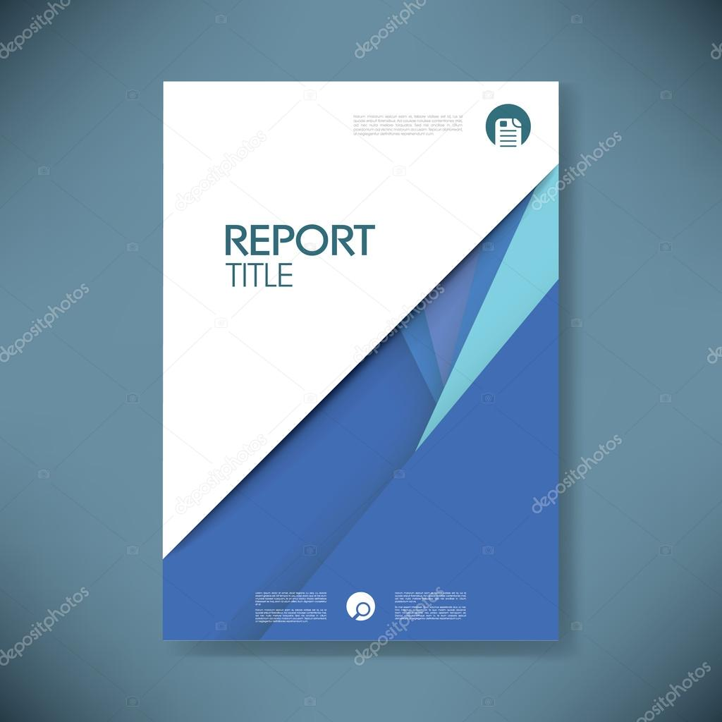Annual report cover template on material design style vector