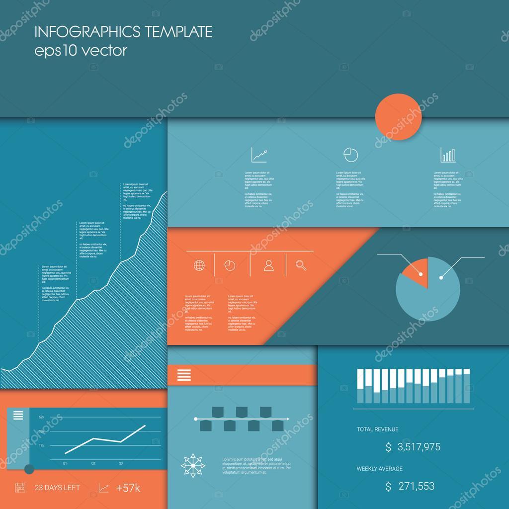 Infografiken Vorlage mit Geschäft Graphen und Diagramme, andere ...