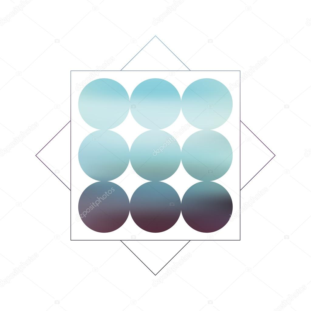 Abstract blurred geometric vector background with circles and abstract blurred geometric vector background with circles and gradient fill retro 80s style blue and turquoise colors as symbol for sea ocean coast biocorpaavc Choice Image