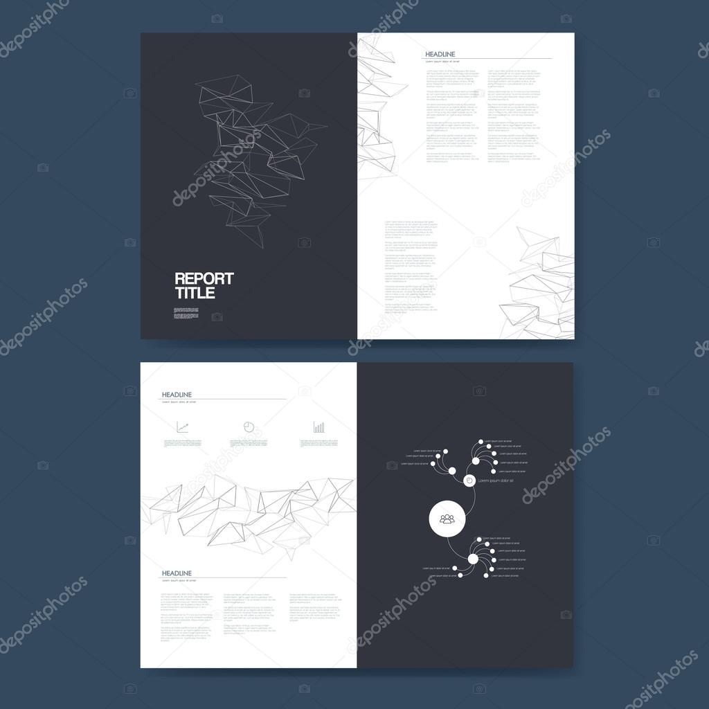 Informe de negocio plantilla con elementos de infografía para ...