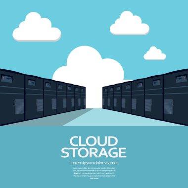 Cloud computing storage concept. Eps10 vector illustration