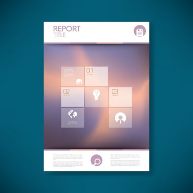 Brochure or annual report cover with abstract background and space for your text