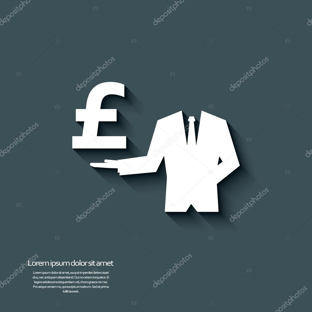 Uk Pound Currency Sign With 3d Effect Stock Vector Micicj 82455906