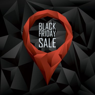 Black friday sale banner. Seasonal clearance promotion. Special offers and discounts poster.