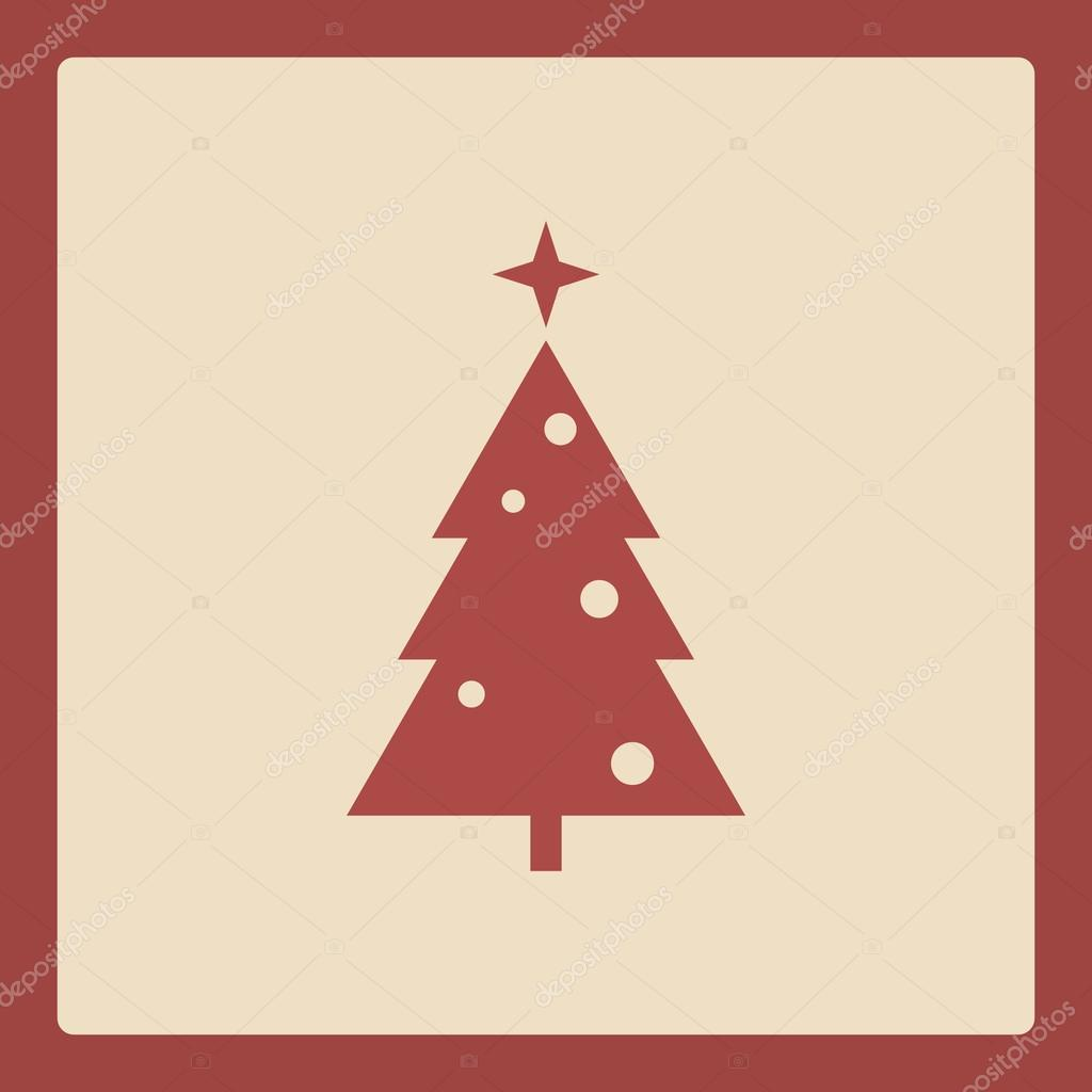 simple christmas tree icon holiday background template traditional