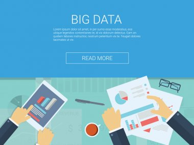Big data concept background. Cloud computing technology presentation.