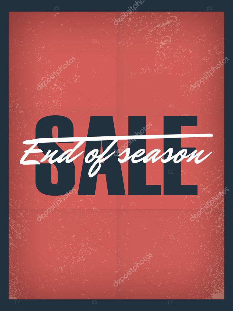 end of season sale poster template discounts and special offers