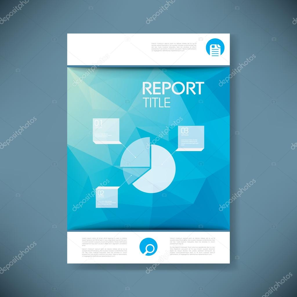 report cover template for business presentation or brochure. pie, Presentation templates