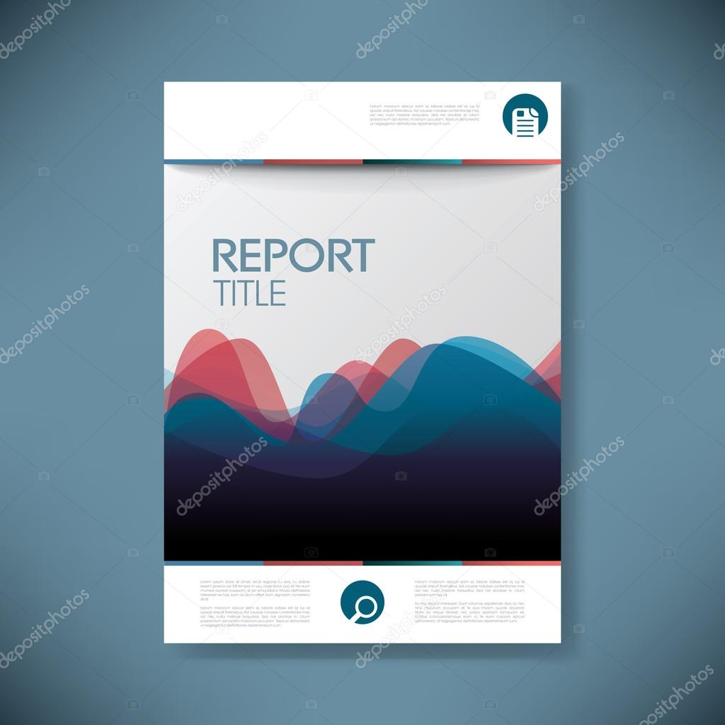 report cover template for business presentation or brochure, Presentation templates