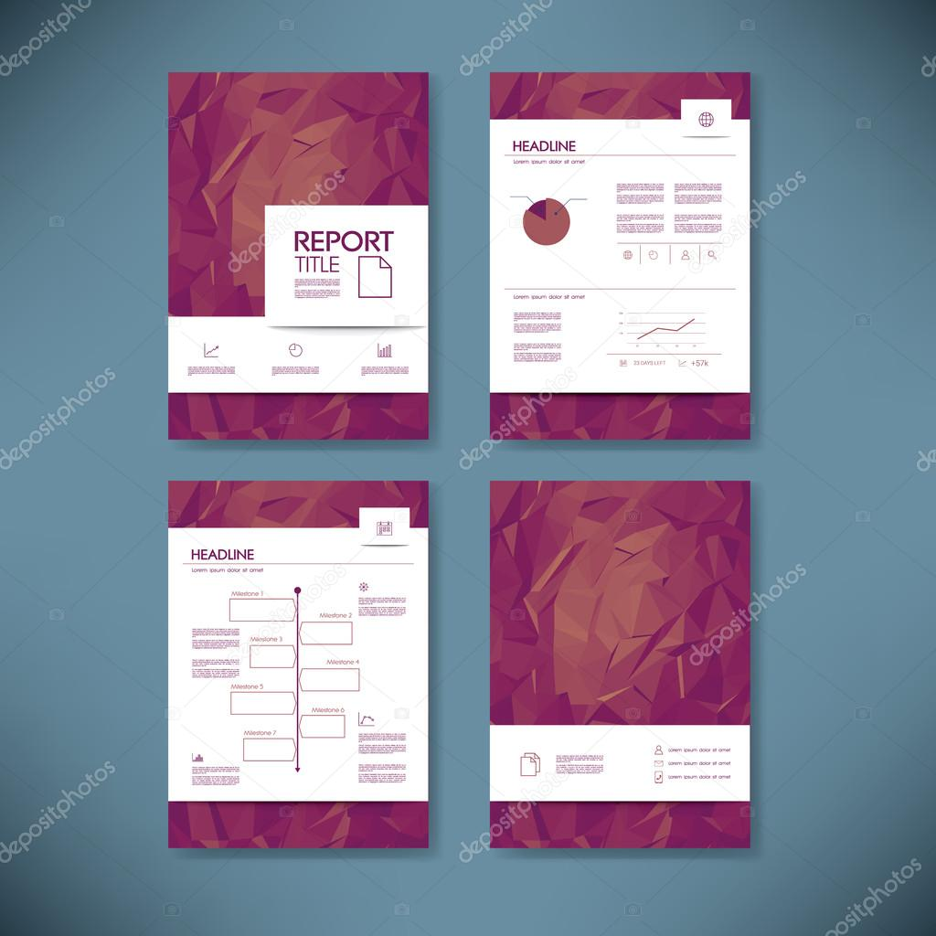 Business report template with low poly background project business report template with low poly background project management brochure document layout for company presentations eps10 vector illustration vector cheaphphosting Images