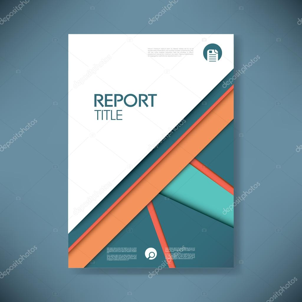 business report cover template on blue material design background brochure or presentation title page eps10 vector illustration vector by micicj