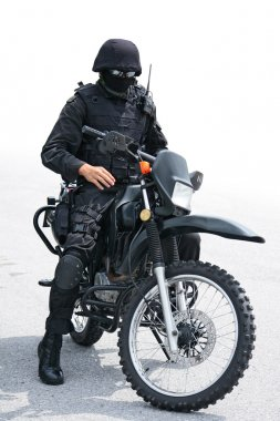 man in black on motorcycle