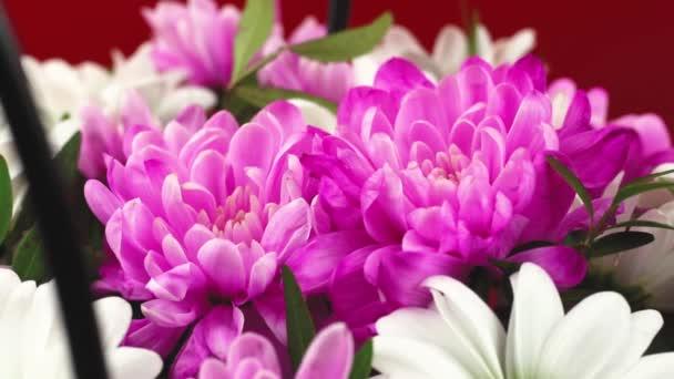 Beautiful bouquet of flowers close up presentation