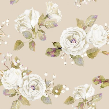Vector illustration of flowers. Vintage. Can be used for gift wrapping paper, the background of Valentine's day, birthday, mother's day and so on. clip art vector