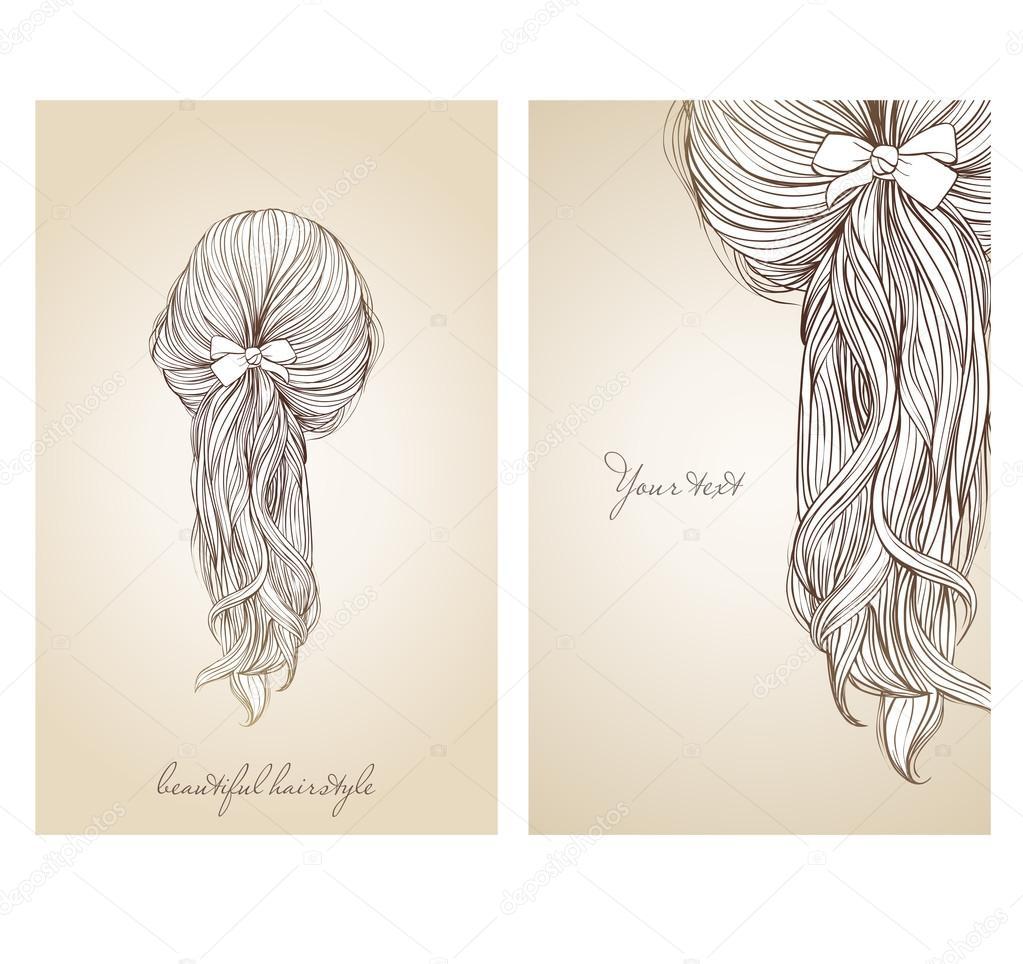 Ilustracja Wektorowa Z Piękną Fryzurę Kobiece Grafika Wektorowa